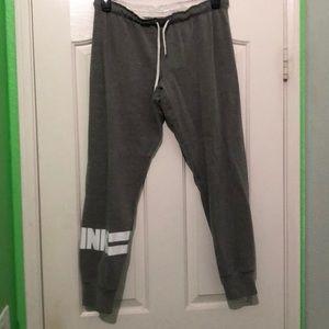 Grey Pink brand jogger sweats